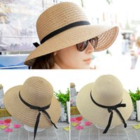 Cheap 2016 Fashion Women's Wide Brim Summer Beach Sun Hat Straw floppy Elegant Bohemia cap