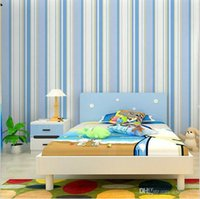 Wholesale Non woven child stripe wall paper kids wallpaper wallcovering background wall wallpaper pink girl papel de parede kids WP2