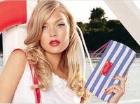 beach cosmetic bag - HB570 Sport Natural Swedish Blue White Navy portfard stripy beach pouch Cosmetic MakeUp Organizer Bag