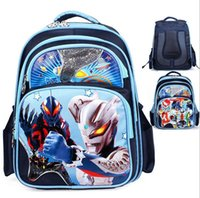 army body armor - Cartoon Children s Bags Altman Armor Warriors Printing Children s Primary School Shoulder Bags Grades
