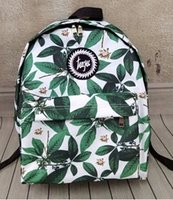 Wholesale styles NEW fashion Harajuku Leaves flowers skateboard HYPE backpack preppy style schoolbag women travel shoulder bag