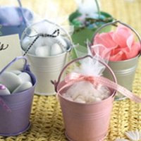 pails - Hot Sale wedding favor Boxes Mix Color mini pails wedding favors mini bucket candy boxes favors Z204