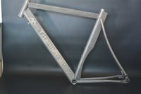 Wholesale Supply new design and hot sale gr9 Ti3al2 v C titanium road bike frame sample in stock for test