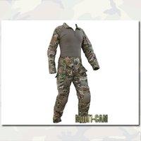 Wholesale Combat Army Uniform Set EMERSON Tactical Suit Shirt Pants with knee pads elbow pads multicam EM2711
