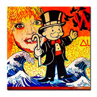 abstract painters - Hand painted Hi Q modern wall art home decorative abstract oil painting on canvas Alec monopoly painter Unframed