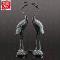 Wholesale Copper bronze crane Home Furnishing Ganoderma crafts decoration h30m