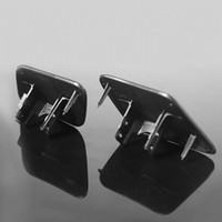 Wholesale 1 Pair Headlight Washer Cap Cover Left Right Covers Black
