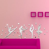 3D Sticker ballet posters - DIY Wall Sticker D Wall Decals Silver Gold Ballet Girls Poster Stickers for Home Decor Decoration