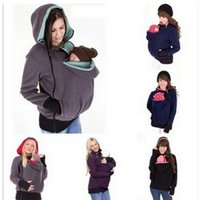 Wholesale Baby Carrier Kangaroo Jacket Winter Hoodie Maternity Outerwear Kangaroo Sweatshirt Coats Fleece Kangaroo Pullover Jumper Babywearing K477