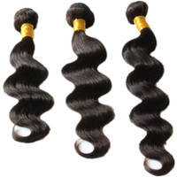 outlet brazilian hair - Brazilian Body Wave Peruvian Malaysian Indian Brazilian Hair Bundles A Virgin Human Hair Weave Extensions Wavy Weft Factory Outlet