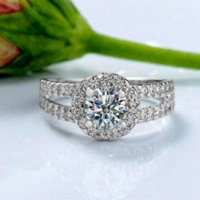 big diamond engagement rings - Big Promotion Luxury Sparkling Wedding Rings for Women Sterling Silver ct Swiss CZ Diamond Engagement Ring ZRJ510