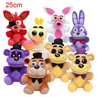 Wholesale 25cm Five Nights At Freddy FNAF Dolls Stuffed Toys Golden Freddy fazbear Mangle foxy bear Bonnie Chica Plush Doll
