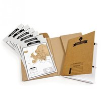 Wholesale Travelogue map Scratch Map Travel log tourist maps Notebook Best Travel Gift