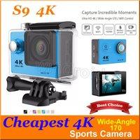 La caméra la plus chère S9 de l'action 4K caméra de sports de grand angle de 170 degrés étanche 30m 2.0 LCD 1080p 720P 12MP wifi HDMI action HD + boîte 5pc