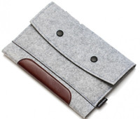 Wholesale Classical Gray Soft Laptop Bag Felt Ultrabook Sleeve Case for Ipad Ipad mini Ipad air2 wool felt case cover Carrying Handle Bag