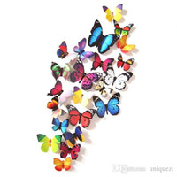 Wholesale 24PCS D Butterfly Art Decal Wall Stickers Magnetic Home Decor Room Decorations