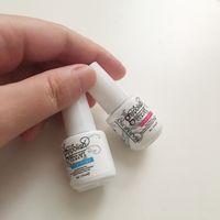 Wholesale 2016 Top quality Harmony gelish polish LED UV nail art gel TOP it off and Foundation bottles frence nails Top coat Base coat set ml