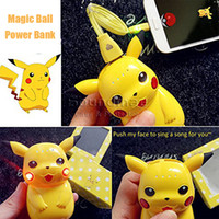 Wholesale Poke Go mAh Power Bank Pokeball Portable Charger LED PowerBank for iphone S Samsung S7 NOTE7