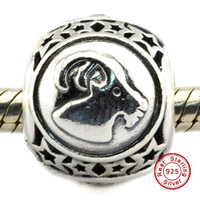 animal capricorn - Capricorn Star Sign Charm Sterling Silver Bead Fit Pandora Fashion Jewelry DIY Charm Brand