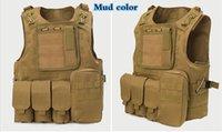 Wholesale USMC Airsoft Tactical Military Molle Combat Assault Plate Carrier Vest Tactical vest Colors CS outdoor clothing Hunting vest
