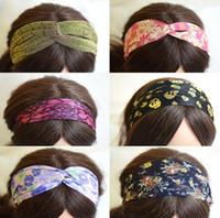 Wholesale 10pcs Mix Color Mix Style Bohemian Hairband Headband For Fashion Hair Jewelry Gfit HJ028