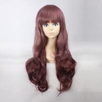 best wigs online - Women s Long Natural Wave Maroon Heat Resistant Synthetic Hair Lolita Fashion Wig LOW07 Best Wigs Online
