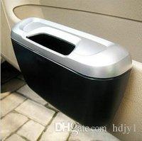 Wholesale free shinppingShun Wei creative fashion car trash bins green boxes can be hung inside the side door bins