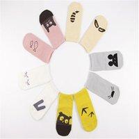 anti slip child socks - Baby Kids Cotton Socks Spring Autumn Asymmetric Cartoon Anti Slip Socks Months Old Girls Boys Socks Walking Children Socks Colors