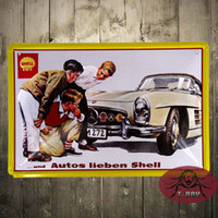 advertisement posters - Vintage Car Advertisement Tin Sign Metal Poster Living Room Plaque Decor B