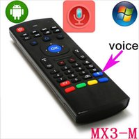 Wholesale Genuine U1 Keyboard Fly AirMouse Mini Wireless Remote G Sensing Gyroscope Sensor MIC Combo MX3 M For MXQ M8S Amlogic S905 STB Android TV BOX