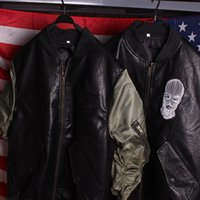 alpha women s jackets - Fashion Military Bomber PU Leather Motorcycle Jacket Lady MA1 Austrian Flight Jacket Alpha Hip Hop Hip Hop Pilote Veste Mother