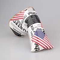 american flag magnets - New American Flag Magnet golf putter headcover great PU leather quality newspaper golf head covers
