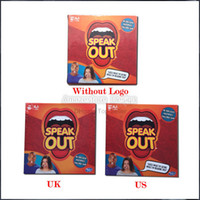 Wholesale 2016 Speak Out Game KTV party game cards for party US UK version Christmas gift newest best selling toy original packing