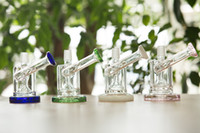 Wholesale Mini Glass Bongs Glass Hookahs Perc Bongs Four Colors Handle Mini Bongs From Hyman Dab Rigs Thick Base mm Tall With mm Downstem