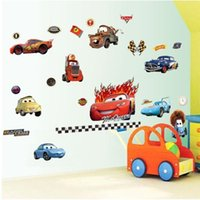 art print europe - 100pcs cars wall stickers kids room decoration XY8091 adesivos de paredes home decal animal mural art print movie poster