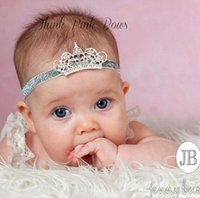 baby powder hair - 2016 Crown Europe and America Children hair band with crystal powder hair shiny tiara crown baby comfort and safety