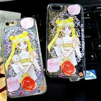 beautiful clear skin - Sailor Moon Quicksand Star Beautiful Girl Faery Flower Hard PC Case Liquid Glitter Sandglass Clear for Iphone plus S SE S skin