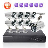 alert surveillance - 8CH HDMI Surveillance DVR NVR system in Outdoor Waterproof TVL Security Camera System CMOS IR Cut T HDD email alert