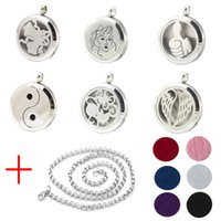 animal perfume - Aroma Jewelry mm Perfume Locket L Stainless Steel Essential Oil Aromatherapy Diffuser Locket Pendant Send Chain Felt Pad WS