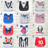 bandana design clothing - 12 Designs Newborn Cotton Waterproof Baby Bibs Bandana For Infant Bibs Clothing Waterproof Lunch Bibs For Children Feeding Care