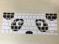 Wholesale Multi colors Letters Silicone printing Flower Keyboard Skin Protector Covers For Macbook Tablet Computer And Waterproof