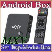 android k box - 2015 MXV Android TV BOX MXQ S805 Quad Core Contex A5 GHZ Mali smart tv GB GB Flash Kodi GHZ Wifi Media Player IPTV K TH
