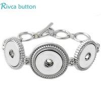 al por mayor cadena de pulsera de metal-Al por mayor-P00688 más nuevo diseño del ajuste de 18 mm cadena de botón de plata antiguo de la joyería de la pulsera del encanto del metal de botón a presión