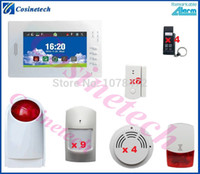 auto alarm shops - Personalized MHZ security alarm system for home office shop smoke sensor outdoor strobe siren GSM alarm system