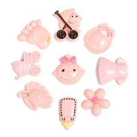 baby scrapbook embellishments - 9Pcs Mix Size Cute Baby Series Resin DIY Resin Cabochon Flatback Embellishments for Scrapbook Baby Shower Gifts Pattern Random