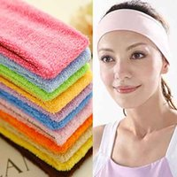Wholesale Hotsale Quality Candy Color Sports Yoga Headwear Cotton Cloth Fabric Hair bands Headband Sweat Absorbing Women Hair Accessory