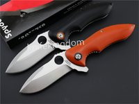 Wholesale Spyderco knife Rubicon G10 C ball bearing Flipper C187 Outdoor EDC hand tools Folding knife D304M For Survival Knife