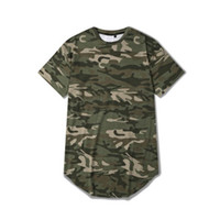 Wholesale Men summer short sleeve camouflage extended t shirts casual sport hip hop t shirt men s camo outdoor streetwear tees camiseta