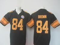 Wholesale Steelers Antonio Brown Black Rush Limited Jersey New Season Hot Sale Sports Jerseys for Men