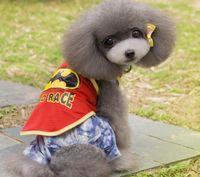 batman dog shirt - Cute Batman Dog Pet Vest Ventilate Cartoon Puppy Cotton Coats Clothes Pet Supplier Orange Gray Color Size